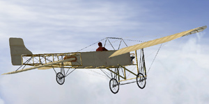 bleriot XI crossing the channel 25 july 1909